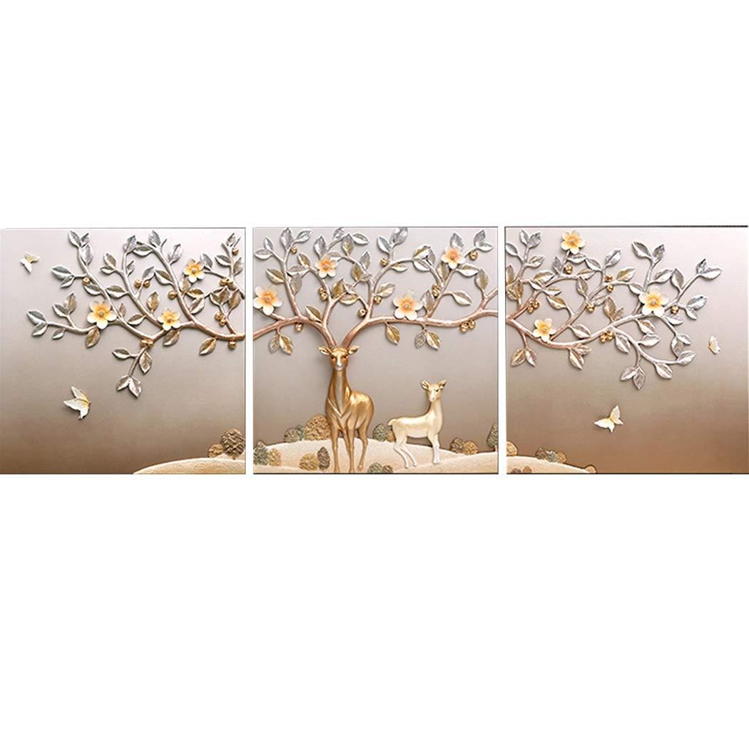 YONGYONG 壁画3D現代のミニマリストのソファの背景の壁絵画富鹿エンボス壁画60 * 60 cm (色 : B, サイズ さいず : 60*60cm) B07PKQ1JPD B 60*60cm