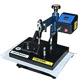 """Fancierstudio Power Heat Press Swing Away Heat Press T Shirt Press 9""""x12"""" Heat Press Rhinestone Heat Press 9x12 Blue Black"""