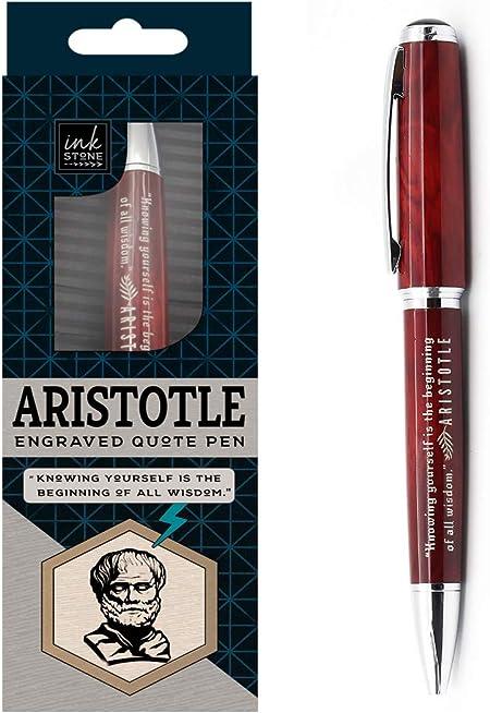 Aristotle Enlightened Quote Pen