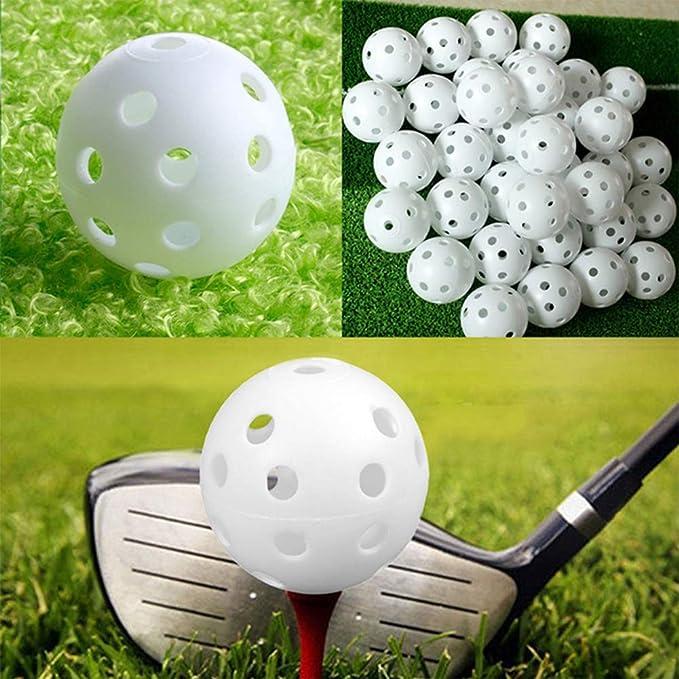 Amazon.com: Pelotas de golf de práctica de flujo de aire, 40 ...