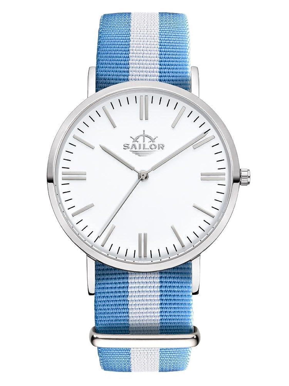 Sailor Armbanduhr Classic Sail silver mit Nylonarmband | Die Trend-Uhr 2017 auf vielen Fashion Shows von Paris bis