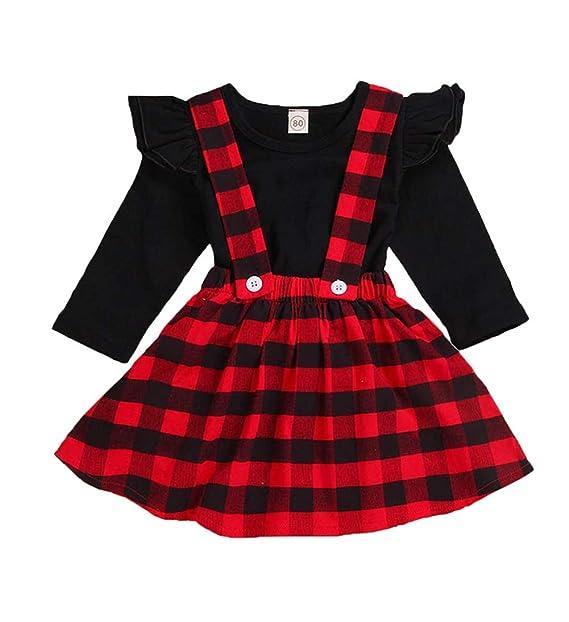 9e815baed862 Amazon.com  Baby Outfits Girl Long Sleeve T-Shirt Ruffle Top ...