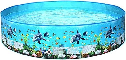 Azul Piscina Portátil plegable Espacio grande para adultos ...