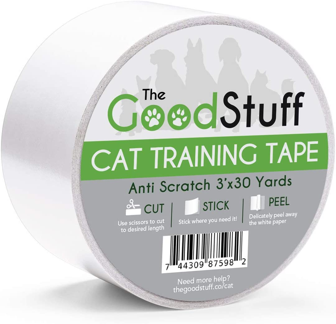 Cat Scratch Tape Furniture Protectors - Guard Your Couch, Doors and Furniture from Anti Scratches Deterrent Cat Training Tape - Great for Leather and Fabric Couches