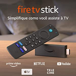 Novo Fire TV Stick com Controle Remoto por Voz com Alexa (inclui comandos de TV) | Streaming em Full HD