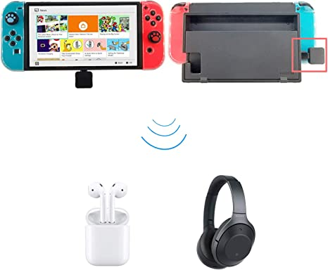 Low Latency USB C Connector Wireless Audio Transmitter Adapter Compatible for Bluetooth Headphones Headset Connect Nintendo Switch / PS4 / PC (Support in-Game Voice Chat): Amazon.es: Videojuegos