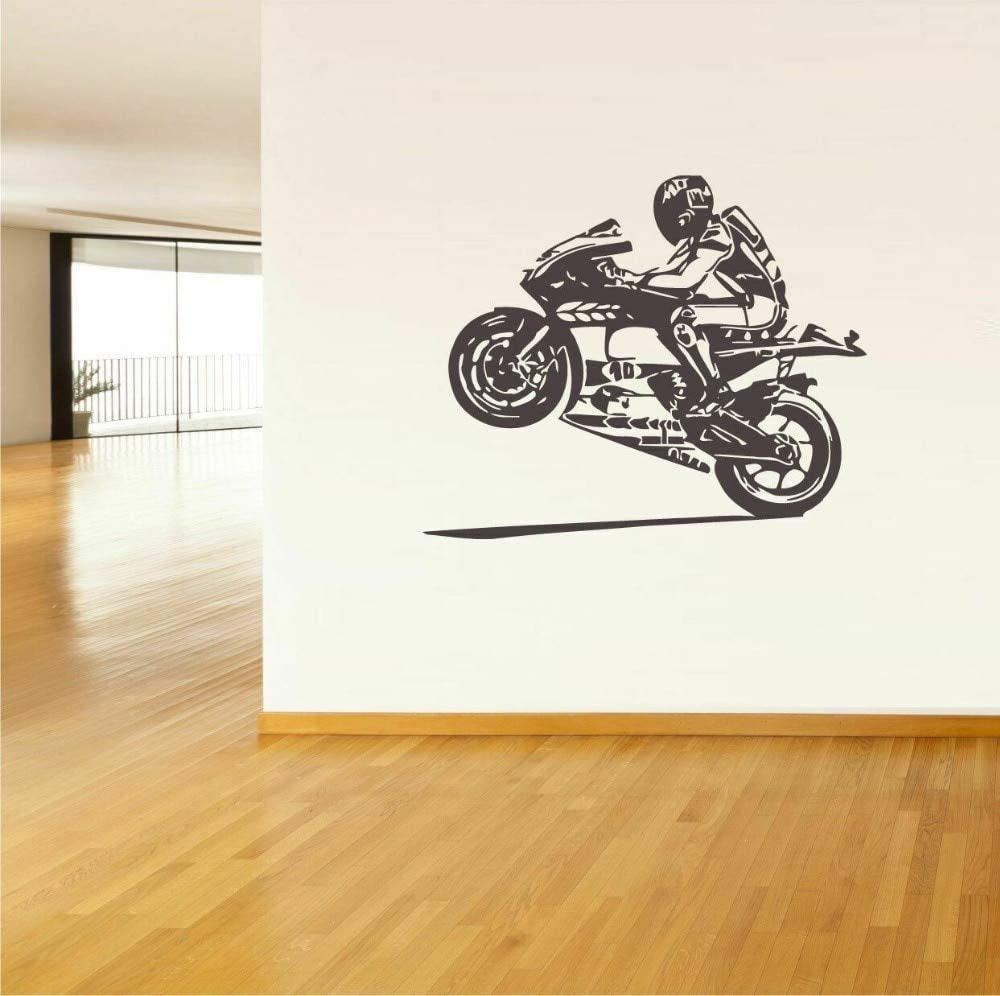 Motocicleta Art Decal Racing Speed ​​Passion Casco deportivo Jugador Moto Gp Teen Boys Room Dormitorio Decoración del hogar Vinilo Etiqueta de la pared Mural Poster