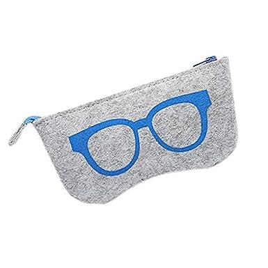 Ruikey Cas de lunettes de soleil de mode de feutre, sac de stockage de lunettes de soleil avec la tirette