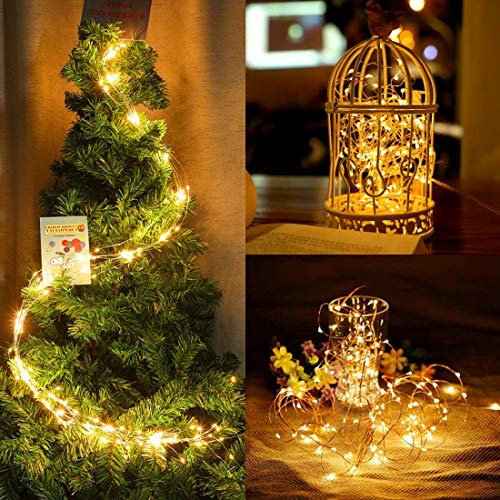 Twinkle Star 200 LED 66ft Fairy Copper String Lights USB & Adaptor Powered, Dimmable Control Starry String Lights Home… 5