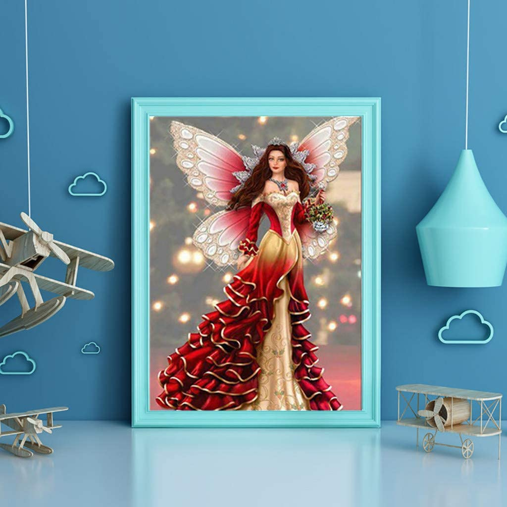 KUNAW 5D Diamond Painting Frame,Photo Picture Frame DIY Cross Stitch Embroidery Wooden free combination Perfect Decoration Picture Frame Wall Mount Decoration 25x30 cm