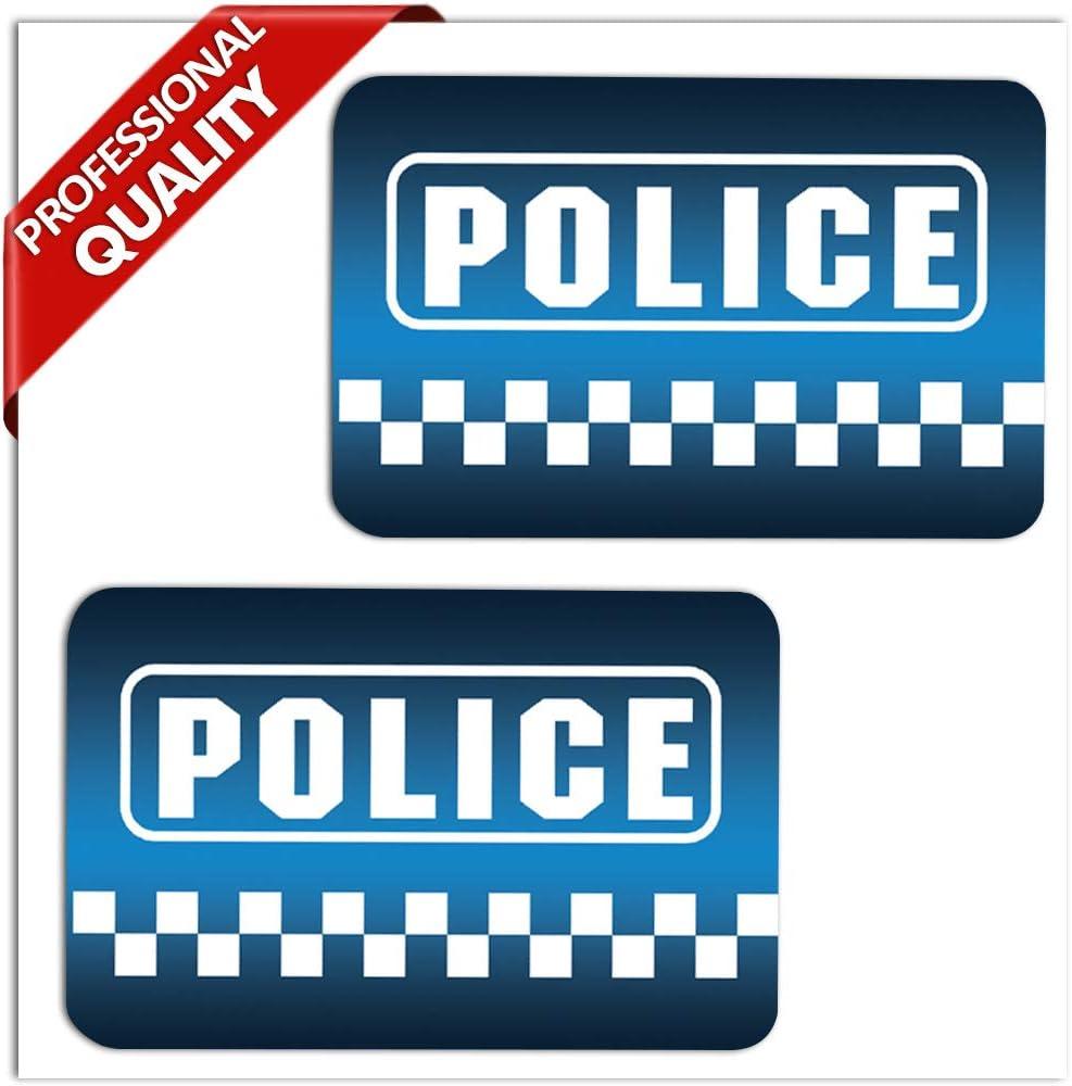 SkinoEu® 2 x PVC Laminado Pegatinas Adhesivos Logo Police Policía ...