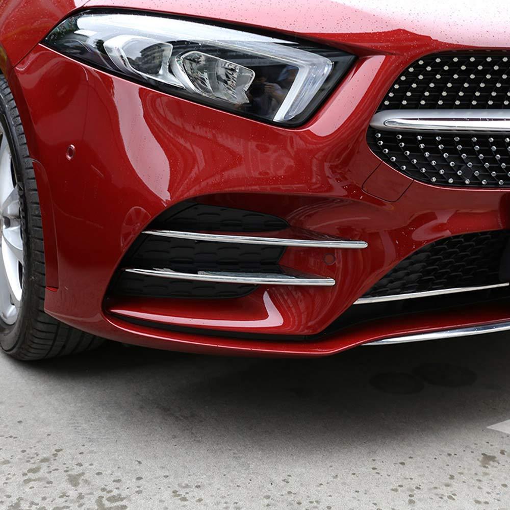 DIYUCAR Lot de 4 bandes d/écoratives en ABS chrom/é pour phare avant de voiture pour Benz Classe A A180 A200 W177 2019 Accessoires