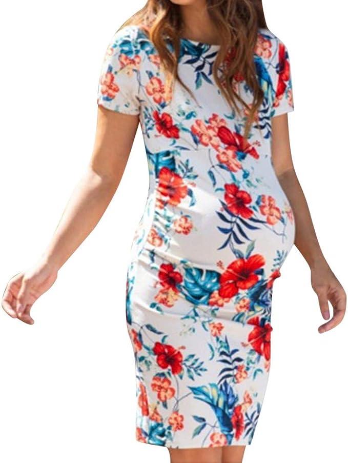 Mujer Vestido premam/á y de Lactancia Estampado Lactancia Verano Vestido