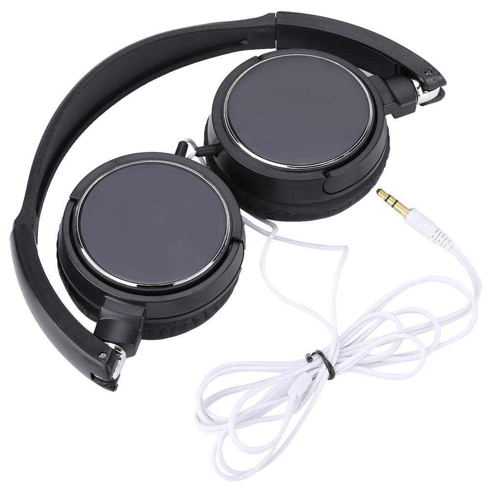 Foldable Compact Bluetooth Wired Headset Stereo HiFi Music Headphone Support TF Card, Ear Bluetooth Earpiece Wireless Headphones Noise Reduction Earphones with Mic for Business/Driving
