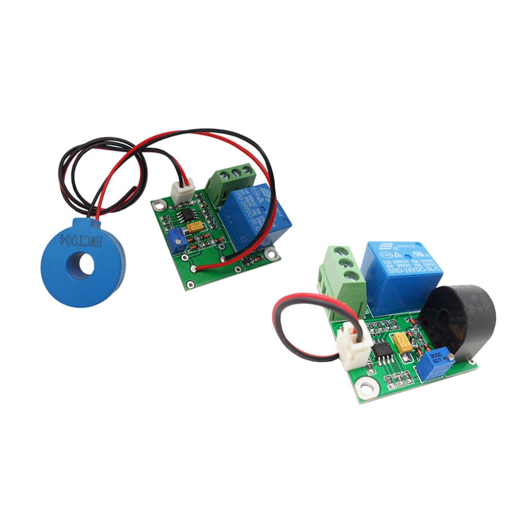 Homyl 2 Pieces AC 10A/50A Current Sensor Module AC Detection Module with Test Line Overcurrent Protection