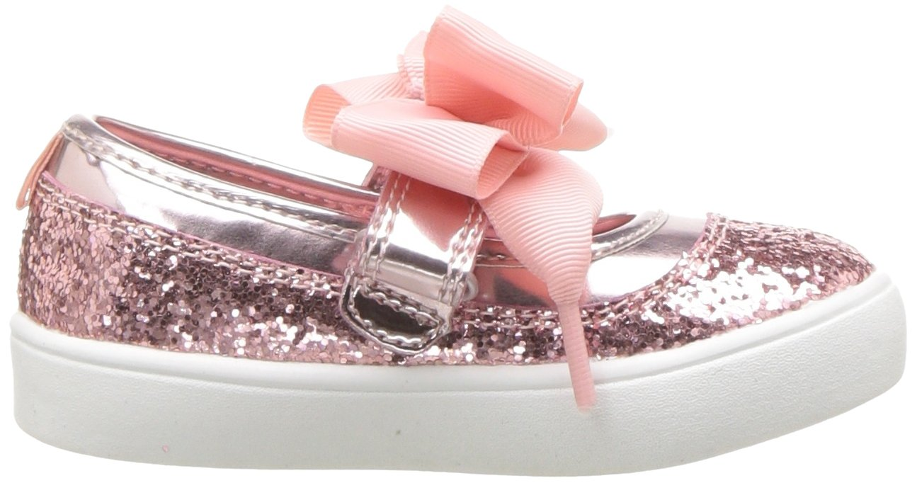 Carter's Girls' Alberta Bow Mary Jane Flat, Pink, 3 M US Little Kid by Carter's (Image #7)