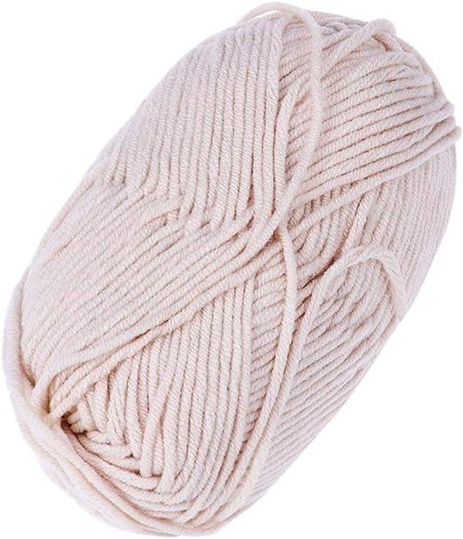 Vosarea - Lana de algodón de hilo grueso tejida a mano con ...