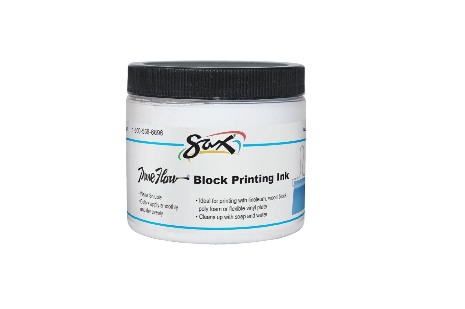 Sax True Flow Water Soluble Block Printing Ink - 16 Ounces - White by Sax (Image #1)