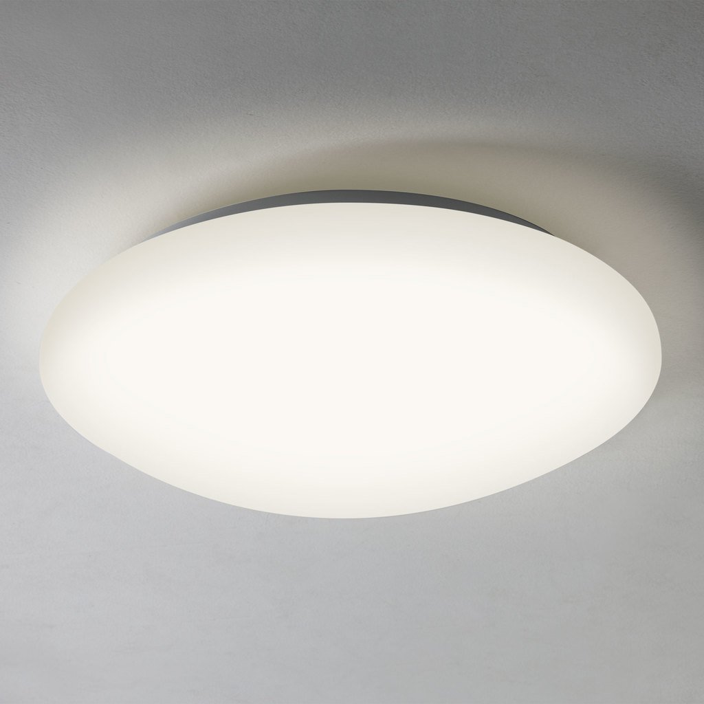 Astro 7394 Massa 350 LED Flush Bathroom Ceiling Light in White [Energy Class A+++] Astro Lighting