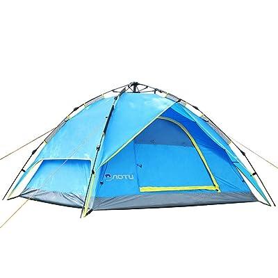 3en 1Multi Fonction automatique Tente extérieure double double couche 2–4Civil Air Defence Storm Camping épaississant