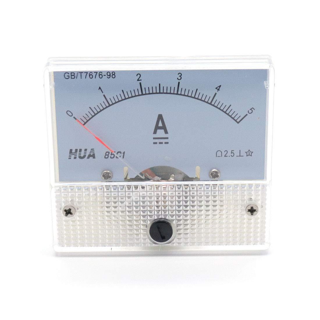 Aodesy Analog 85C1 AC 0-5A Rectangle Analog Panel Ammeter Gauge Shenzhenshiaodesiwujinjidianyouxiangongsi