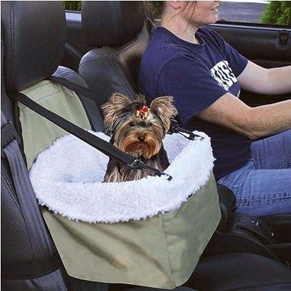 XXYMCB Coche Porta Mascotas Mascota Asiento de Coche Canasta Pad Viaje Seguro Cachorro al Aire Libre Perro Gato Asiento Elevador Hamaca Coche Auto Asiento Delantero Estera para Mascotas