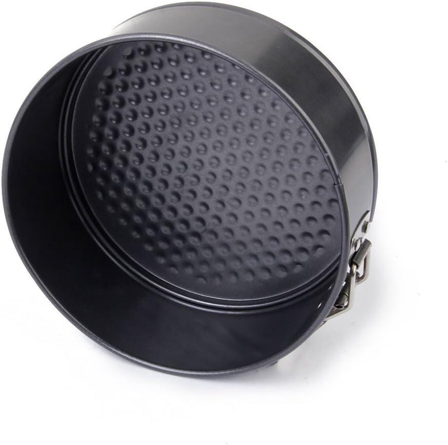 Pixnor Round Non Stick Loose Base Deep Cake Tin 24 x 7cm Black