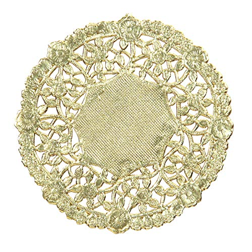 Hygloss Products 10 Inch Gold Foil Doilies - Round Doilies Made in the USA, 12 -