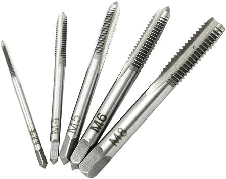 Spiral Gewindeschneider HSS Haushalt Metrisch Teile Reparatur Rechts Silber