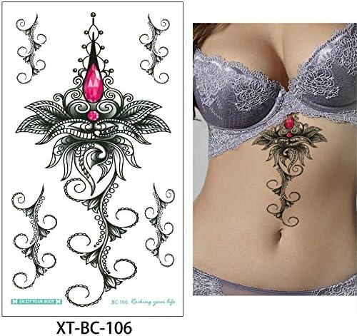 Pecho joyería colgante tatuaje adhesivo temporal para mujer bajo ...