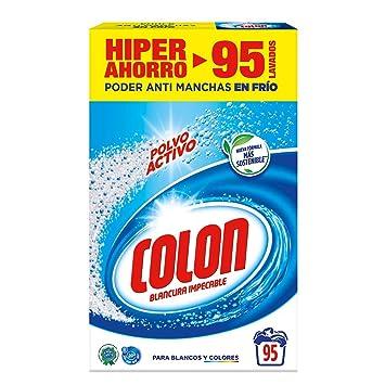 Colon Detergente de Ropa para Lavadora Polvo Activo - 95 Lavados ...