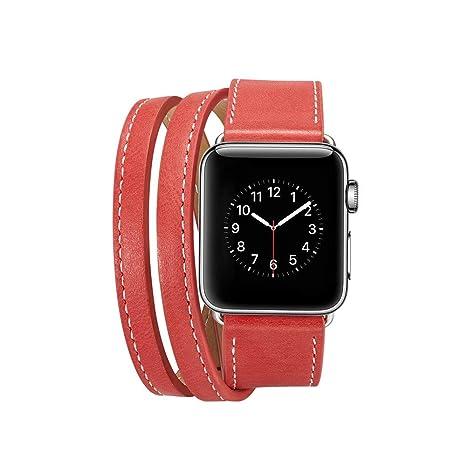 Bracelet Montre Bracelet Connecté en Cuir pour Apple Watch 4 40mm Bracelet de Montre pour Apple