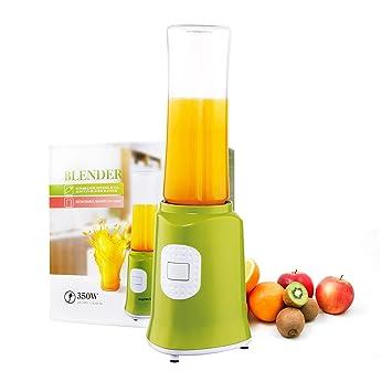 Aigostar Myfrappe Green 30CFC - Batidora de vaso y picadora de frutas para smoothies, frappes, batidos. Color verde y 350 watios. Diseño Exclusivo.