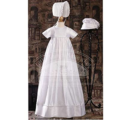 Baby Boys Girls Silk Dupioni Family Pleated Christening Gown 3M-12M