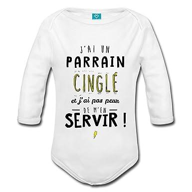 Spreadshirt J Ai Un Parrain Cinglé Body bébé Bio Manches Longues   Amazon.fr  Vêtements et accessoires 2d06a30d7e8