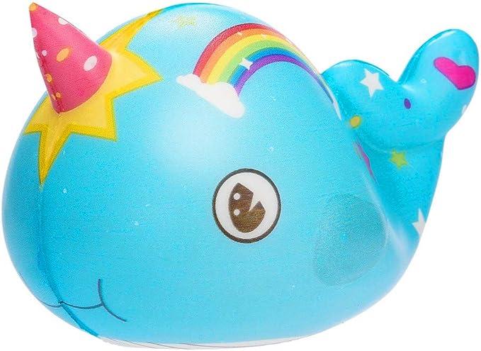 Fossrn Squishy Arcoiris Ballena Squishys Kawaii Grandes Con Olor Low Rising Squeeze Juguetes AntiestréS (Azul): Amazon.es: Ropa y accesorios