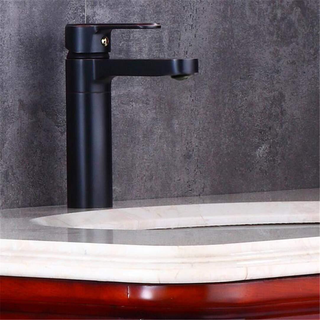 Faucet Washbasin Mixer Faucets Single Handle Cold and Hot Mixer Tap Bathroom Mixer Single Handle Tap Black Faucet Brass Facuet