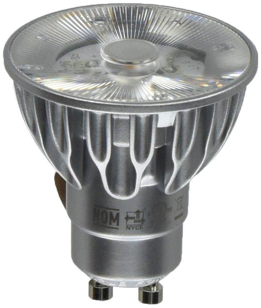 Bulbrite SM16GA 07 10D 827 03 SORAA 7.5W LED MR16 2700K Premium 10° 120V GU10 Dimmable Light Bulb Silver