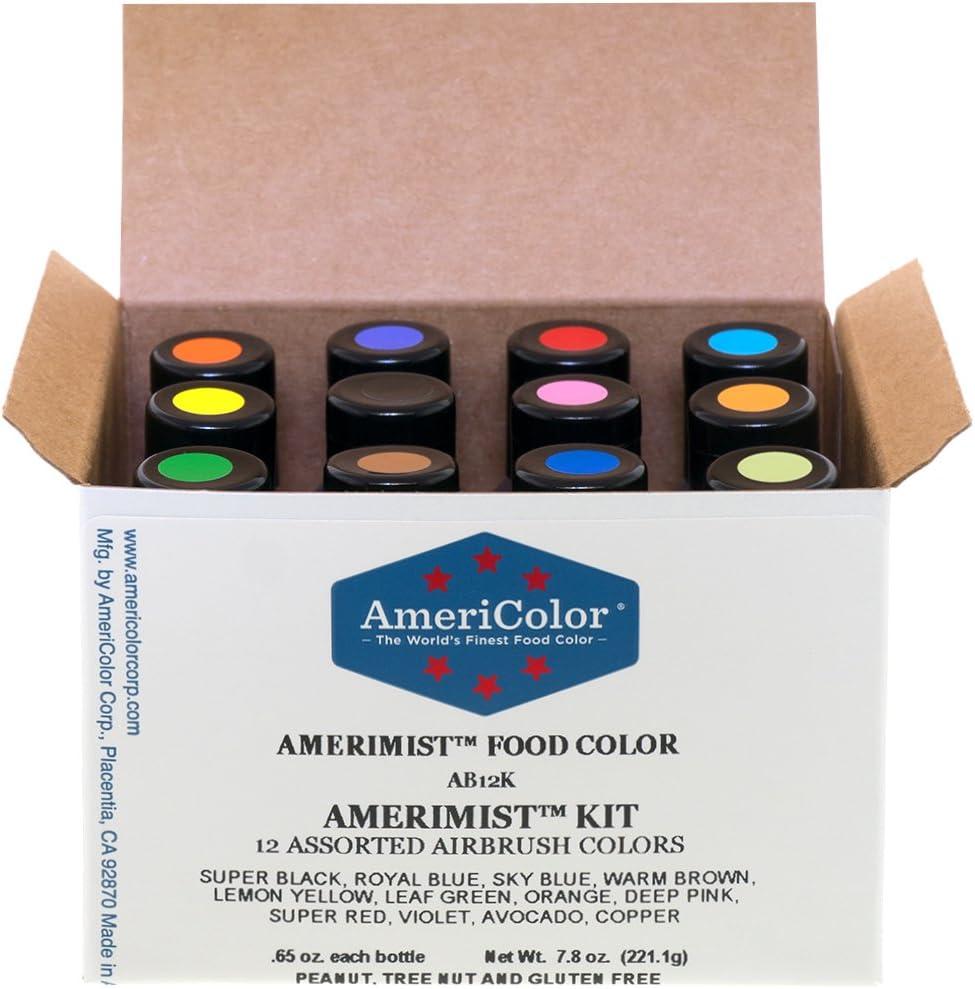 Set de 12 colores Airbrush AmeriColor AmeriMist Colores(12x19ml)