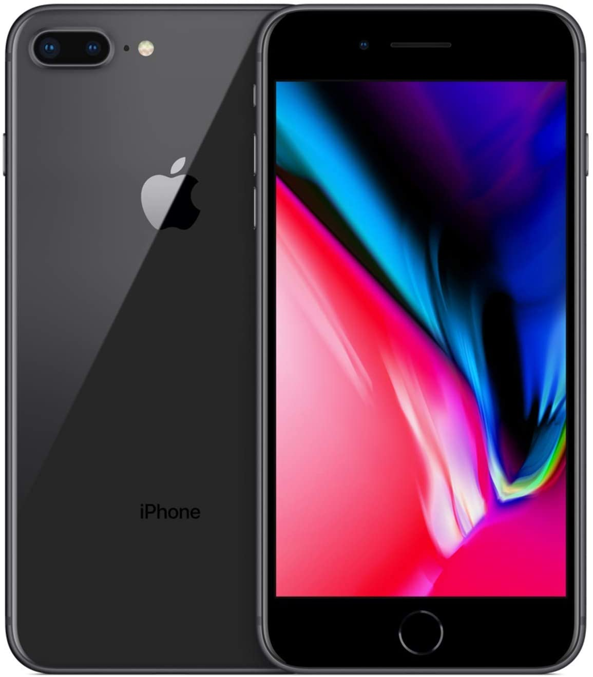 Apple iPhone 8 Plus, Fully Unlocked, 256 GB - Space Gray (Renewed)