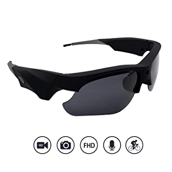 ec8554743fc9 Amazon.com: Yumfond Sunglasses Camera, Waterproof 1080p HD Video Camera  With Polarized Lens, 65° Wide Angle Outdoor Sports DV Recorder: Beauty