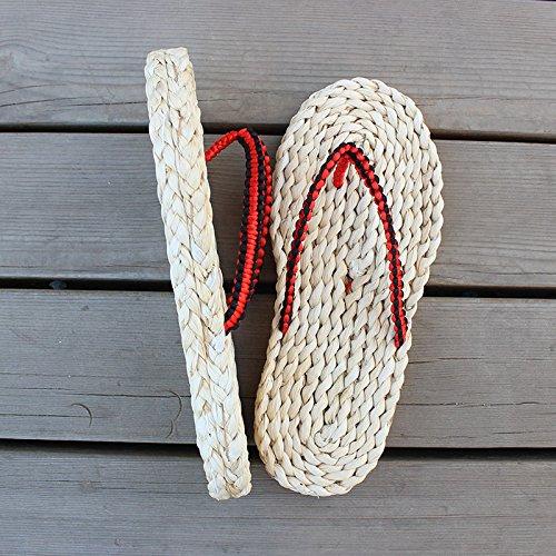 @Sandals Handgemachte Männer Handgefertigte Schuhe, Retro-Männer, Frauen Coole Schleppen, Zehe-Clipping und Flache Fersen.