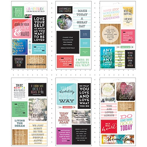 Me & My Big Ideas Pocket Pages Stickers 6 Sheets/Pkg-Love Yourself -