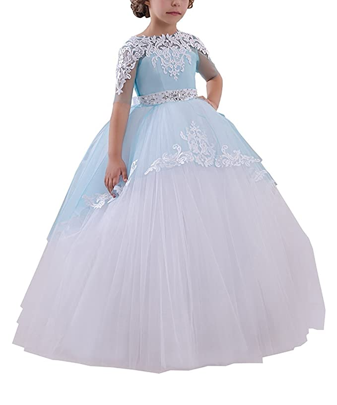 Amazon.com: Magicdress Holy de First Communion Dresses Baptism Christening Wedding Party Christmas Dresses White Blue Girls 39: Clothing