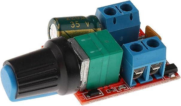 3 PC Mini DC Motor PWM Controller 3V 35V Geschwindigkeitsschalter LED Dimmer