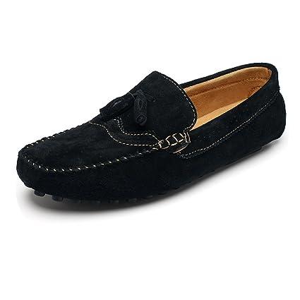 Yajie-shoes, 2018 Mocasines Zapatos para Hombre Mocasines de Costura Manual para Hombre Mocasín