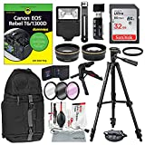 Canon EOS Rebel T6/1300D for Dummies + Deluxe Accessory Bundle with Tripods, Lenses, Filters, 32GB, DSLR Backpack, Lenses, Xpix Cleaning Kit