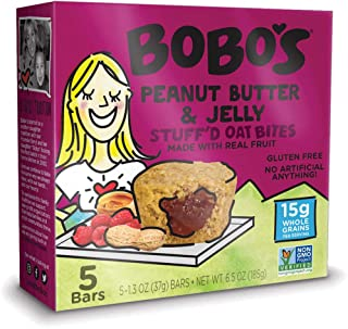 product image for Bobo's Oat Bites, Peanut Butter & Jelly Stuffed, 1.3 Ounce Bites (5ct Box), Gluten Free Whole Grain Snack