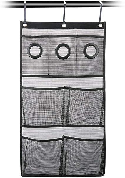 TOPBATHY 72 x 40 cm con tre ganci Organizer salvaspazio da appendere alla doccia colore: nero