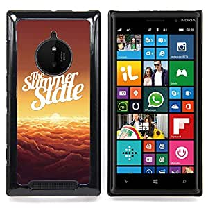 Summer State Clouds Orange Sunset Caja protectora de pl??stico duro Dise?¡Àado King Case For Nokia Lumia 830
